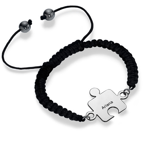Best Friends Puzzle Bracelet in Silver - 2