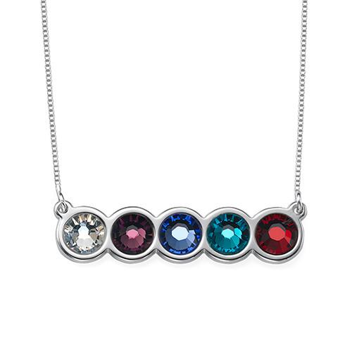 Birthstone Bar Necklace - 1
