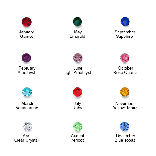 Birthstone Charms Floating Locket with Gold Plating - 4