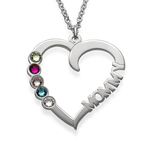 Birthstone Heart Necklace - Yours Truly Collection