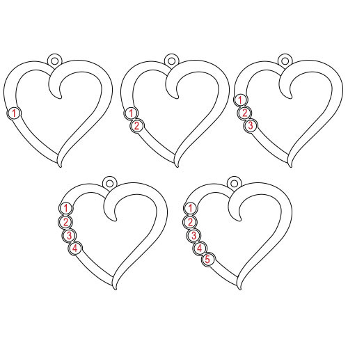 Birthstone Heart Necklace - Yours Truly Collection - 1