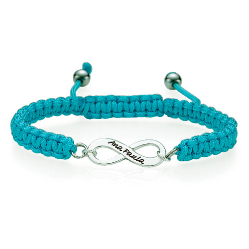 Black Infinity Friendship Bracelet - 1