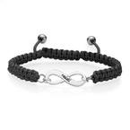 Black Infinity Friendship Bracelet