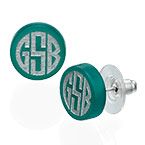 Block Acrylic Monogram Stud earrings
