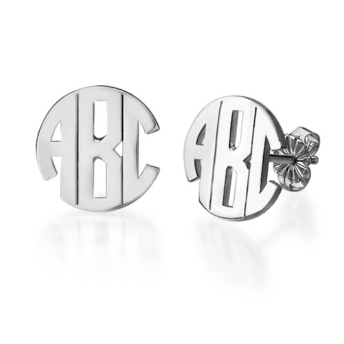 jewelry personalized monogram single mm leverback initial earrings