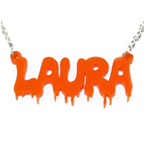 Bloody Mary Style Color Name Necklace
