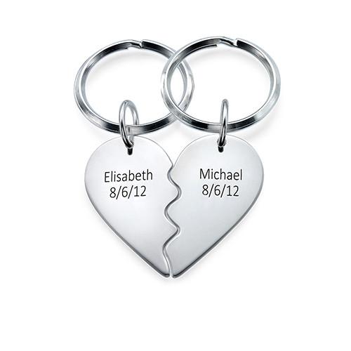 Breakable Heart Keychain in Sterling Silver - 1