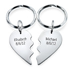 Breakable Heart Keychain in Sterling Silver