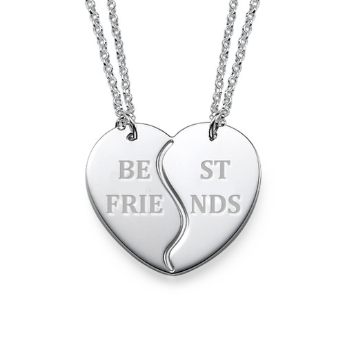 Personalized Best Friends Necklaces in Silver
