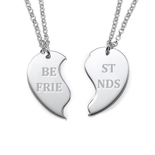 Personalized Best Friends Necklaces in Silver - 1