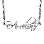 Signature Calligraphy Style Name Necklace