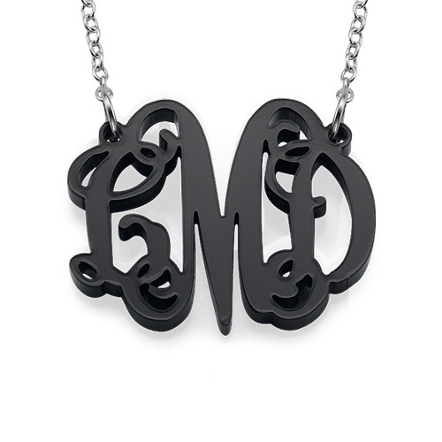 Celebrity Monogram Necklace in Acrylic - 1