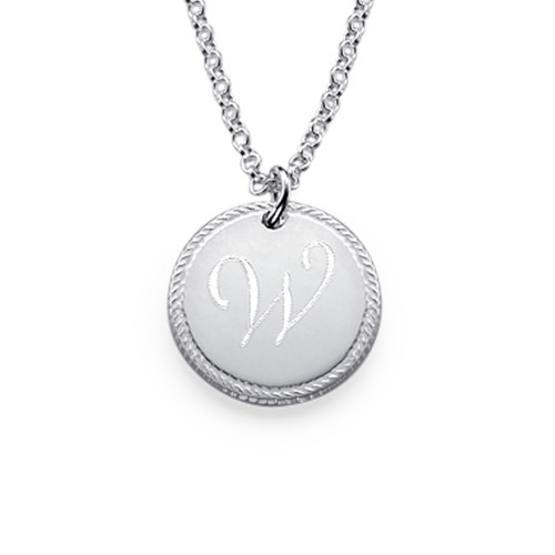 circle initial necklace mynamenecklace