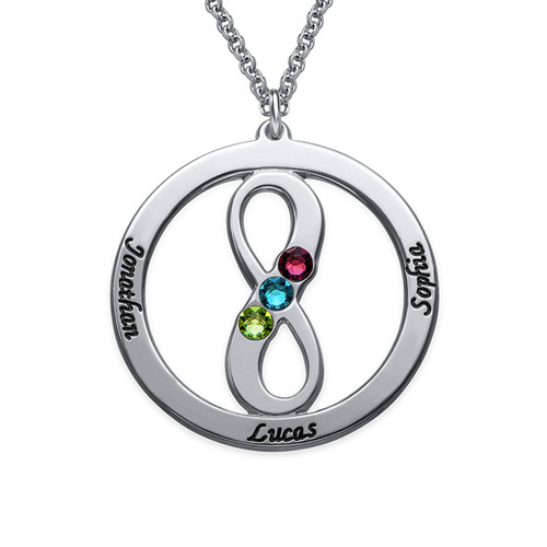 Circle Name Necklace with Infinity Symbol