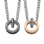 Circle Shaped His And Hers Necklaces