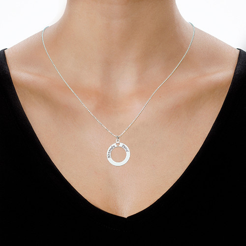 Circle of Love Necklace in Silver - 1