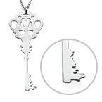City Key Necklace in Sterling Silver
