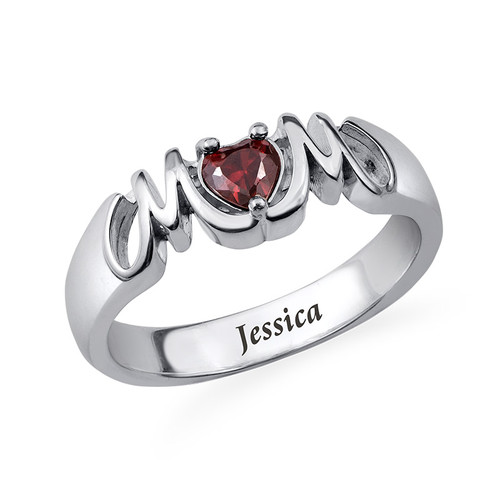 Classic Mom Ring with Inner Engraving
