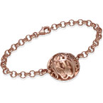 Contoured Monogram Bracelet in Rose Gold Plating