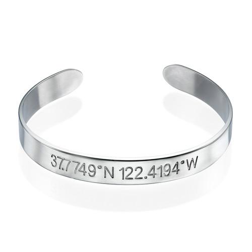 Coordinates Bangle Bracelet