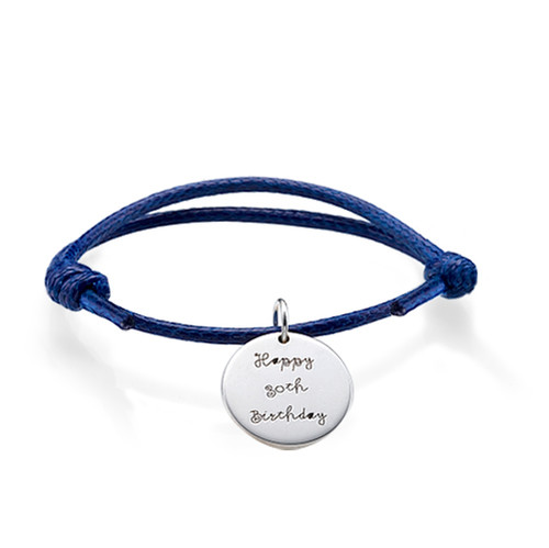 Cord Bracelet with Personalized Charms - 2