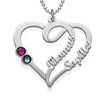 Couples Birthstone Necklace - Yours Truly Collection