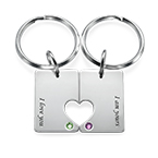Couple's Dog Tag Keychain Set