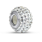 Crystal Birthstone Bead with Cubic Zirconia