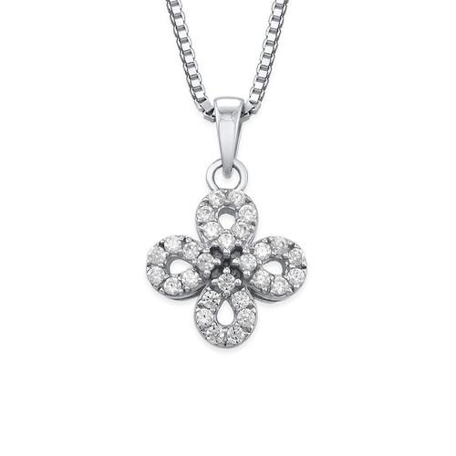 Cubic Zirconia Infinity Cross necklace