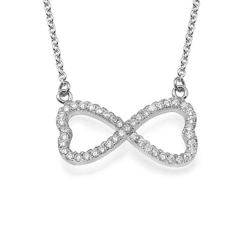Cubic Zirconia Infinity Necklace