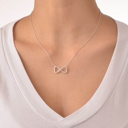 Cubic Zirconia Infinity Necklace - 1