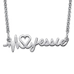 Custom Heartbeat Necklace - Next Generation Collection