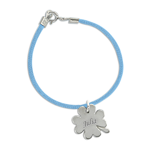 Custom Engraved Mother Bracelet with Silver Charm - 2
