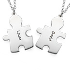 Puzzle Necklaces for Couple's in Sterling Silver