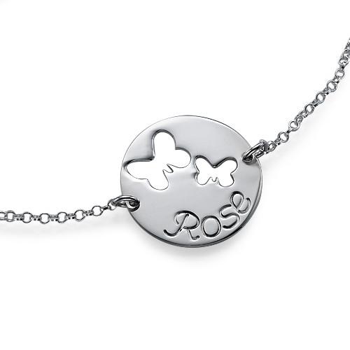 Cut Out Butterfly Bracelet in Silver - 1