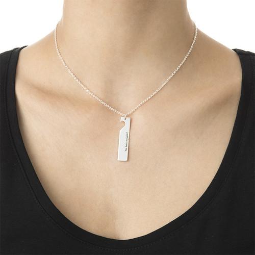 Cut Out Heart Bar Necklace Set - 2
