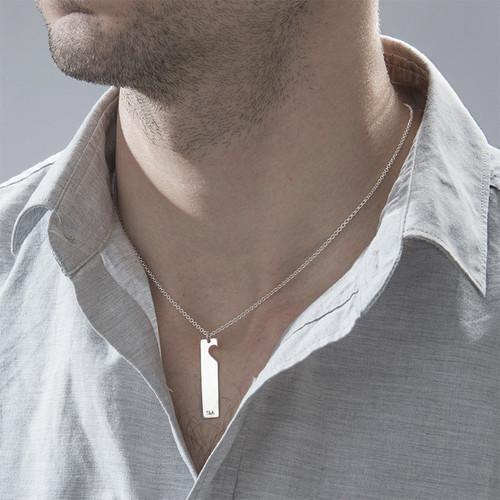 Cut Out Heart Bar Necklace Set - 3