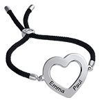 Cut Out Heart Bracelet - Adjustable