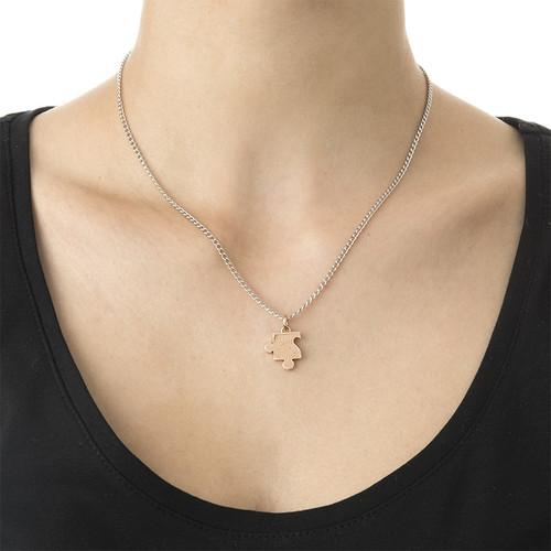 Cut Out Heart Puzzle Necklace Set - 2