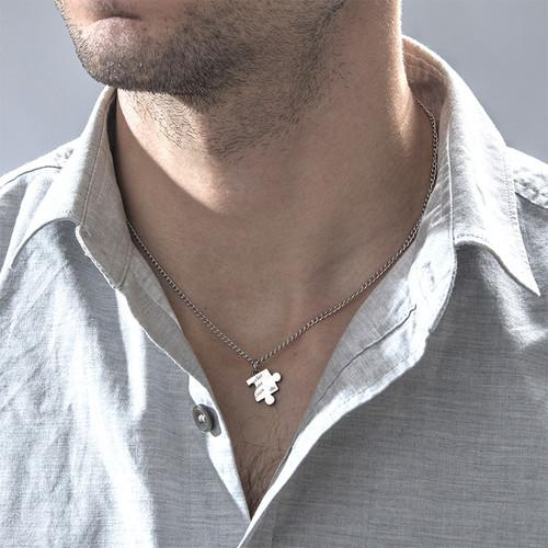 Cut Out Heart Puzzle Necklace Set - 3