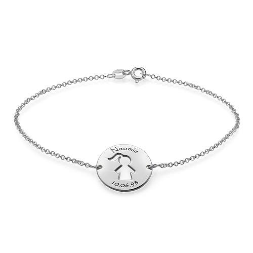 Cut Out Kid's Bracelet in Silver - 1