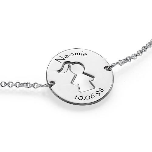 Cut Out Kid's Bracelet in Silver - 2