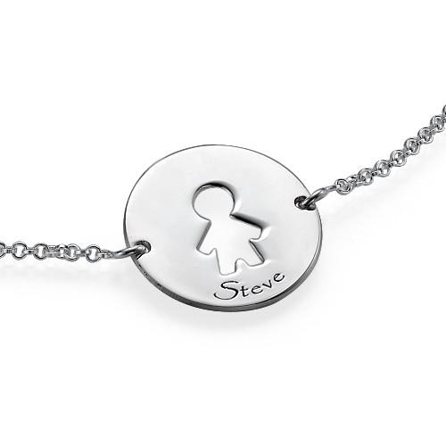 Cut Out Kid's Bracelet in Silver - 4