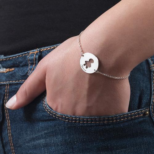 Cut Out Kid's Bracelet in Silver - 5