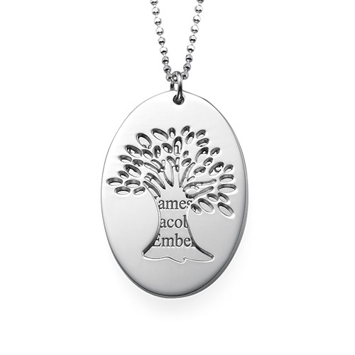 Cut Out Tree of Life Necklace with Engraving