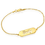 Cut out Name Bracelet in Gold Plating