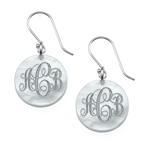 Dangling Acrylic Monogram Earrings