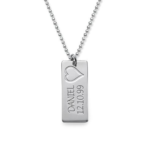 Delicate Vertical Name Bar Necklace - 1