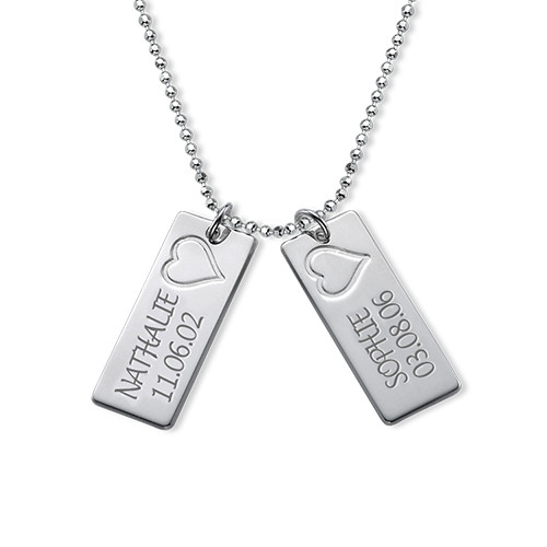 Delicate Vertical Name Bar Necklace - 2