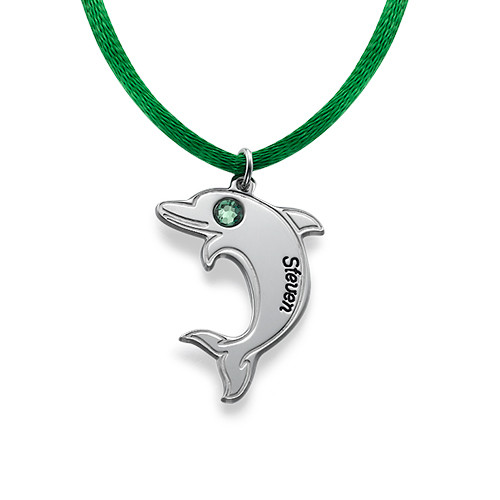 Dolphin Necklace in Sterling Silver - 1